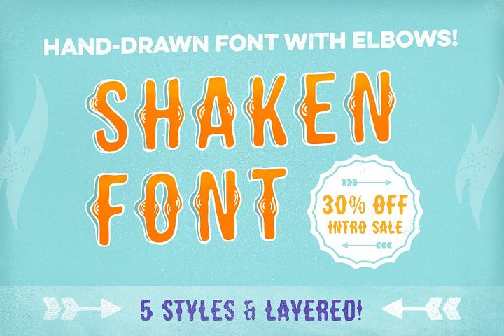 Shaken Font 5 Styles [30% off!]
