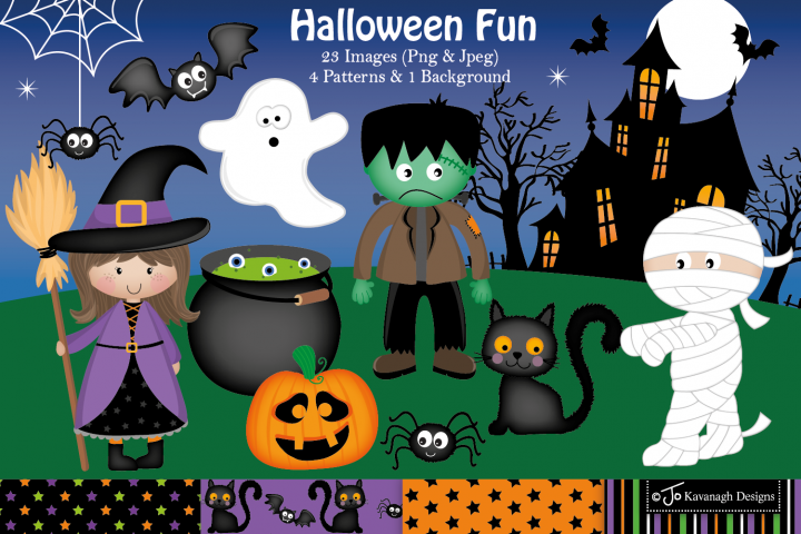 Halloween clipart, halloween graphics & Illustrations -C13
