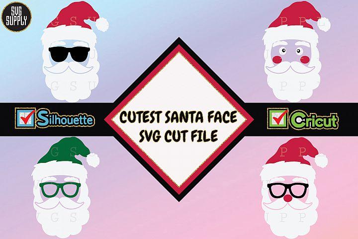 Santa Face Set SVG Cut File