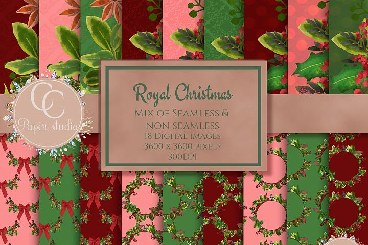 Christmas wreath paper pack