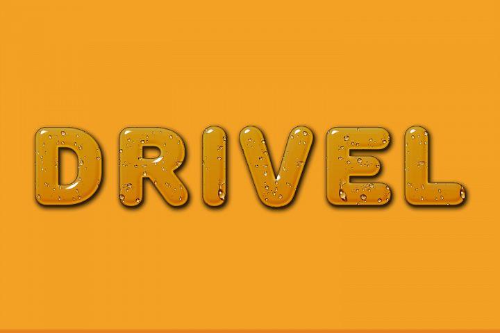 Drivel Editable Photoshop Text Style Effect