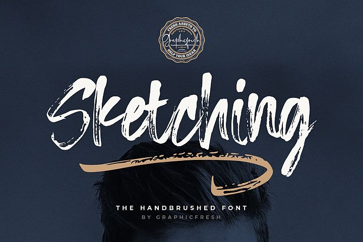 Sketching - The Handbrushed Typeface