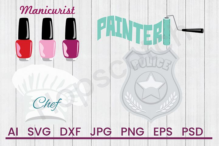 Occupation SVG Bundle, DXF File, Cuttable File