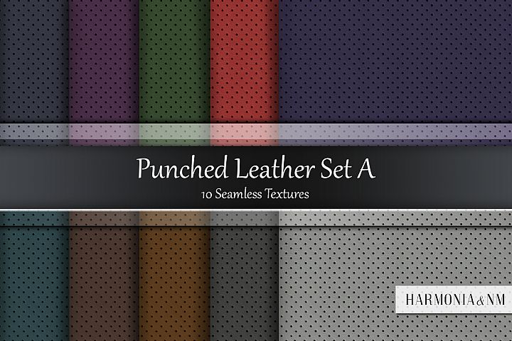 Punched Leather Set A 10 Seamless Textures