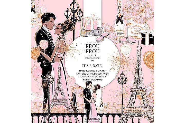 Valentine Anniversary Paris Romantic Love Clip Art