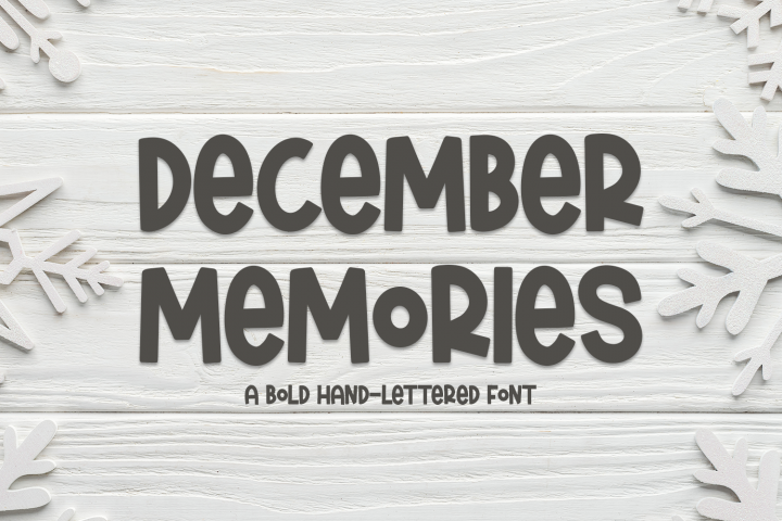 December Memories - A Bold Hand-Lettered Font