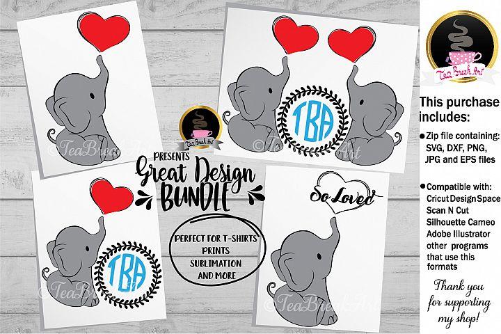 Cute elephant Cutting Files 1118