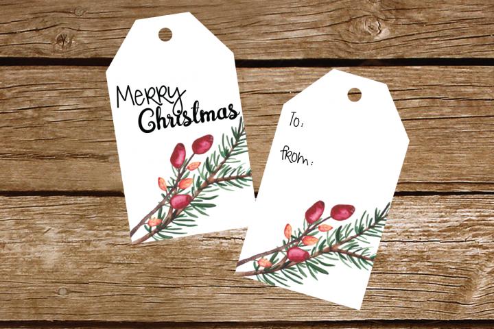 Printable Christmas Gift Tags 1.5 x 2 tag set