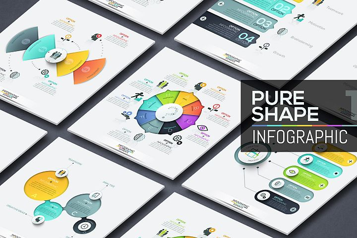 Pure Shape Infographics. Part 1