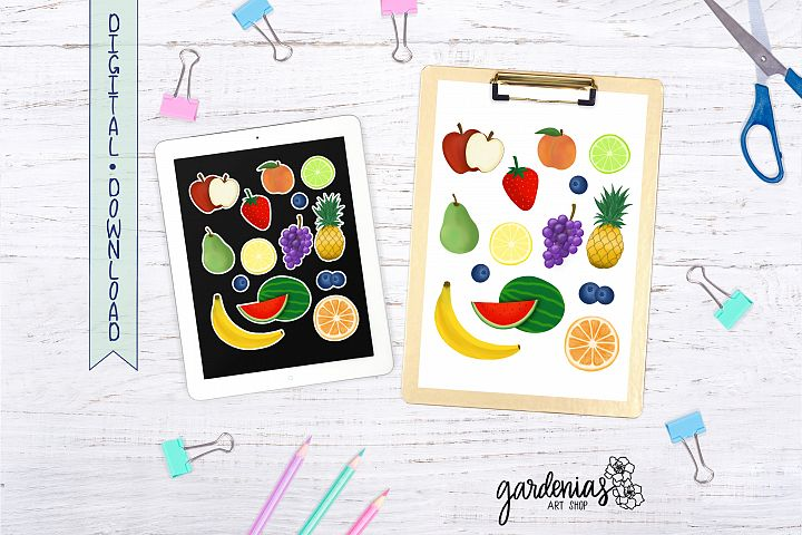 Fruit Stickers | Tattoo | Printable PNG | Digital Download