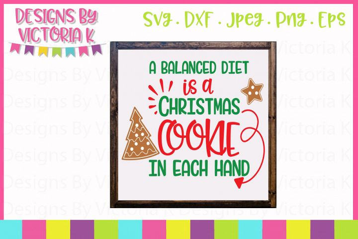 Christmas Cookie, Christmas, SVG, DXF, PNG example 1
