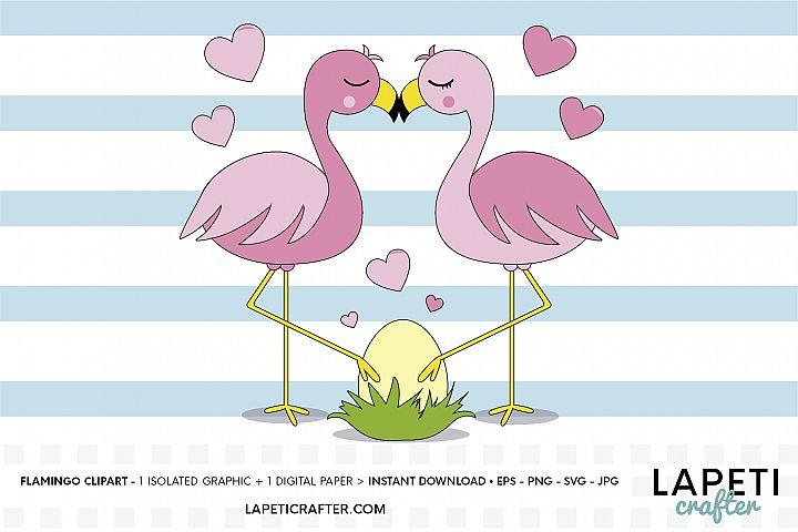 Flamingo clipart, flamingo svg illustration, flamenco couple