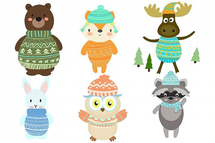 Winter Woodland Animals example image 2