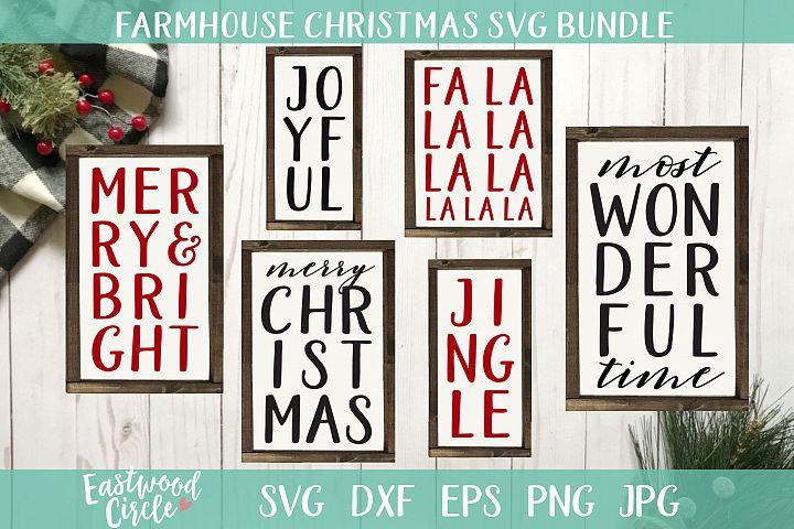 Farmhouse Christmas SVG Bundle