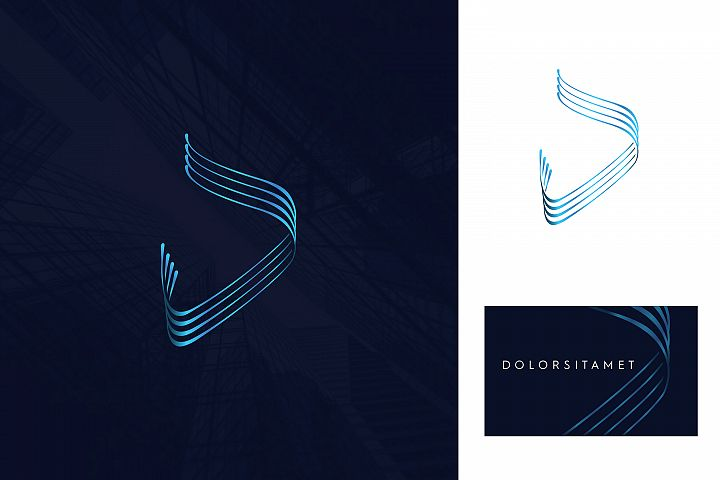 abstract d letter logo, abstract arabic d letter logo.