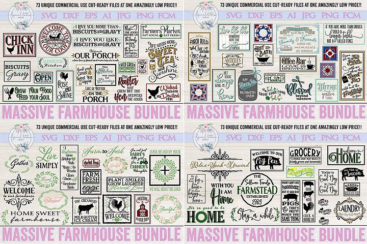 ON SALE NOW! Farmhouse Bundle of 73 SVG DXF Cut File
