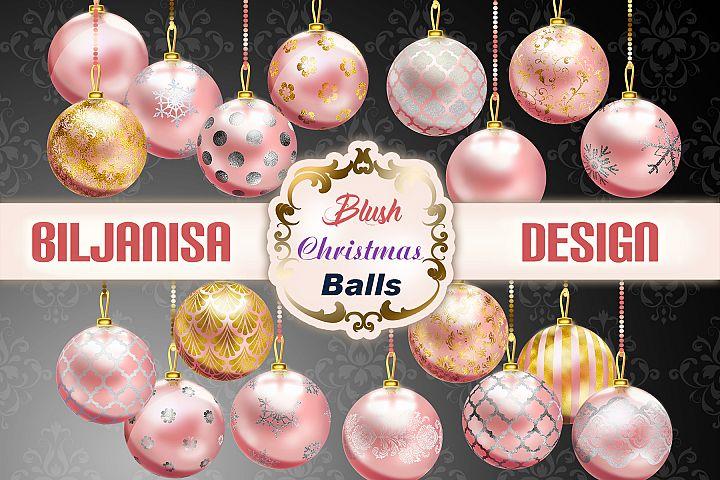 Blush Christmas Balls
