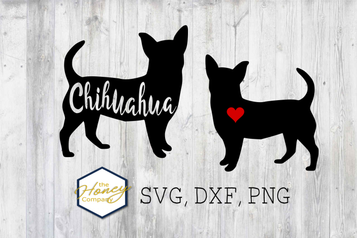 Chihuahua SVG PNG DXF Dog Breed Lover Cut File Clipart