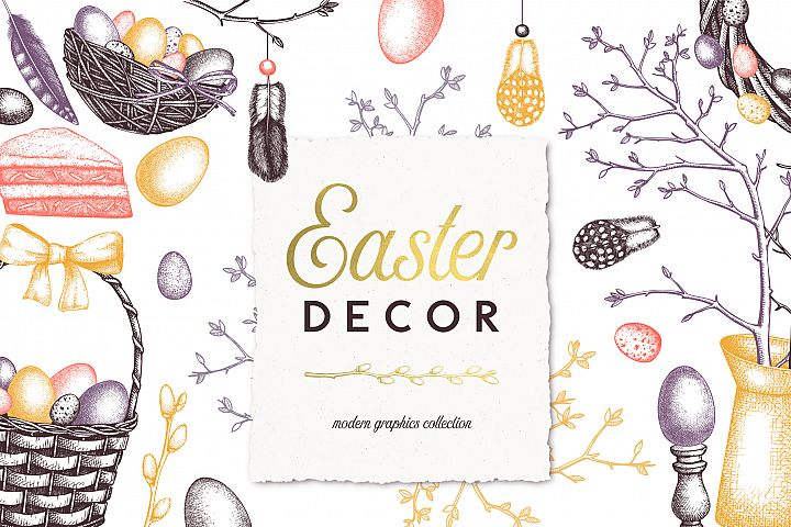 Hand Drawn Easter Design Elements