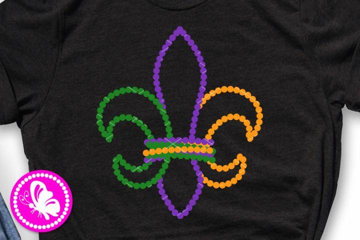 Fleur de lis svg Mardi Gras Beads New Orleans carnival png