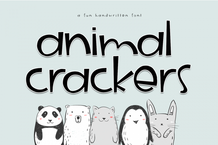 Animal Crackers - A Fun Handwritten Font - Free Font of The Week