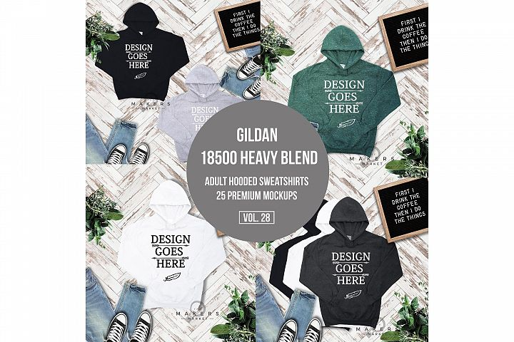 Hoodie Mock-up, Gildan 18500 Sweaters/ Hooded Sweater