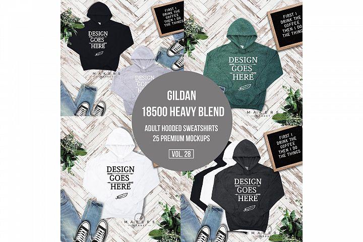 Hoodie Mock-up, Gildan 18500 Sweaters/ Hooded Sweater