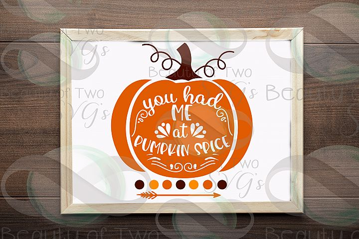 Fall svg, You had me at Pumpkin Spice svg, Pumpkin spice svg