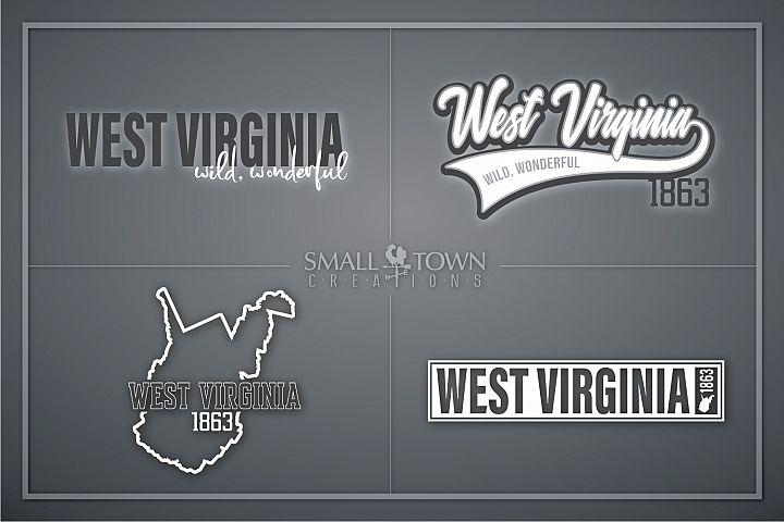 West Virginia, Wild Wonderful - slogan, Logo, PRINT, CUT & D