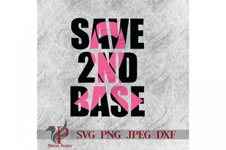 Save 3nd base, Save Second Base, Breast Cancer, Ribbon