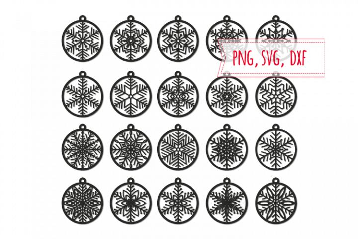 20 Christmas ball svg. Winter decor digital stamps