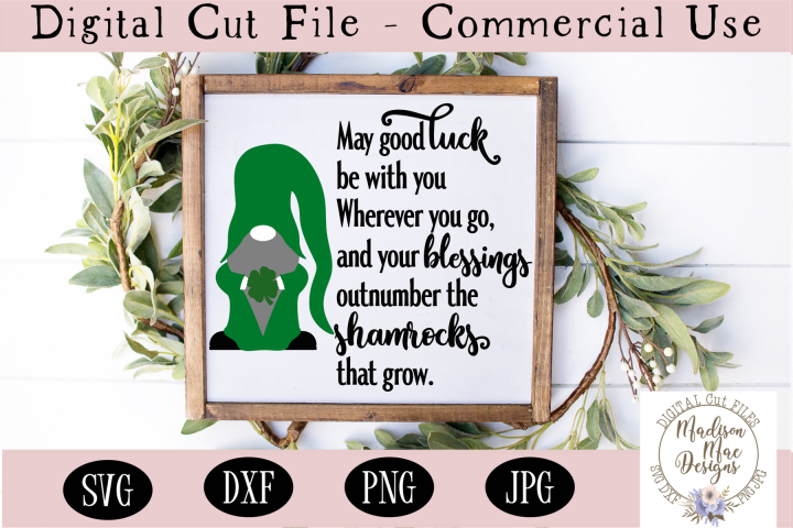 Irish Blessing SVG, Saint Patricks Day Gnome SVG