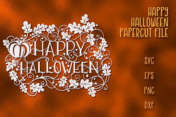 Happy Halloween SVG Papercut File