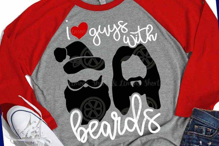 Guys with Beards Santa and Jesus svg, Christmas svg