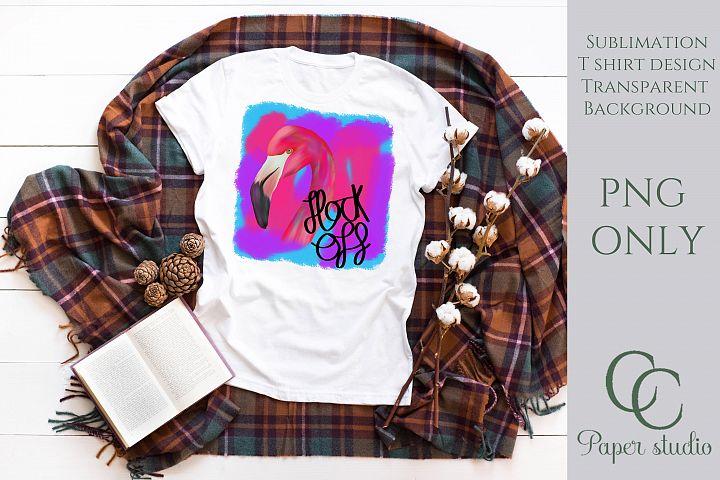 Flamingo sublimation tshirt/mug design