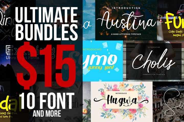 BLACKFRIDAY Ultimate Bundle - 10 fonts and 26 bonus fonts