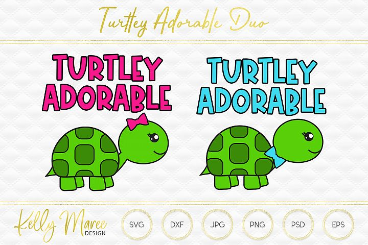 Turtley Adorable Turtle SVG Duo