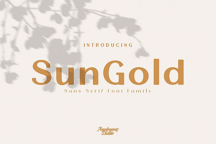 SunGold - Font Family