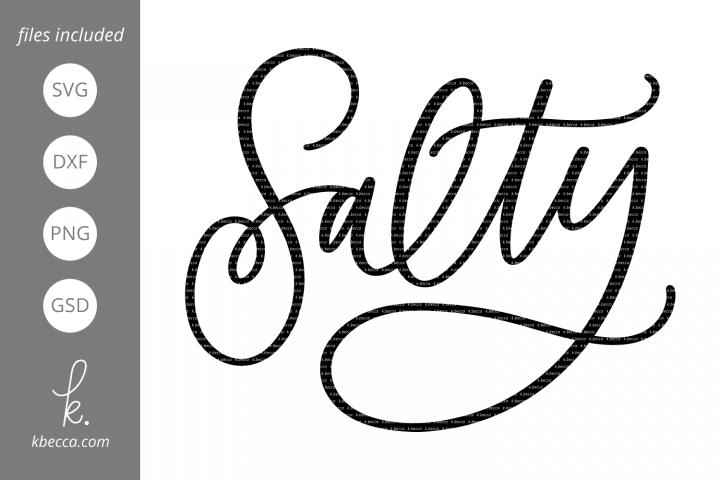 Salty Word SVG Cut Files