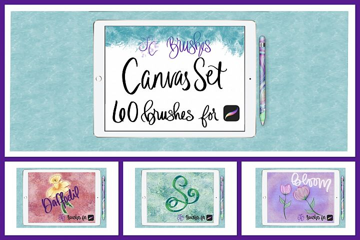 FC-canvas set 1 brushes for PROCREATE