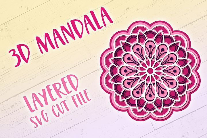 3D SVG Mandala | 3D Papercut Mandala - Free Design of The Week Font