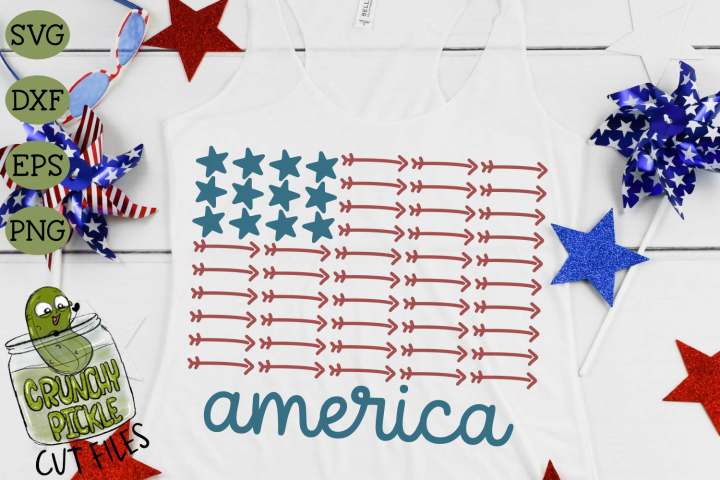 America Stars & Arrows Flag 1 Patriotic SVG