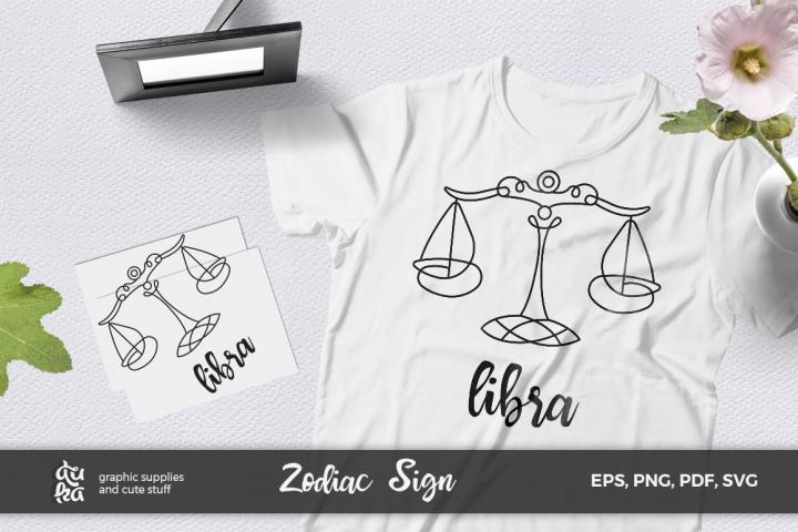 Zodiac Sign SVG Cut Files- Libra