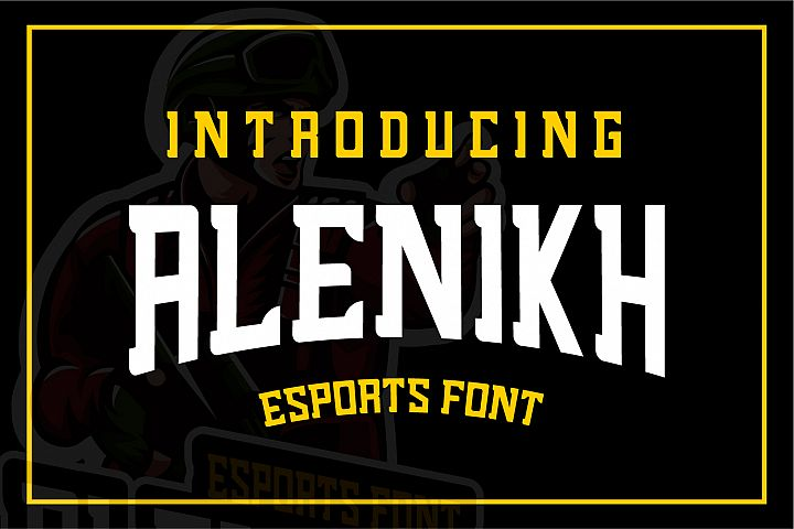 Alenikh Esports Font Logo