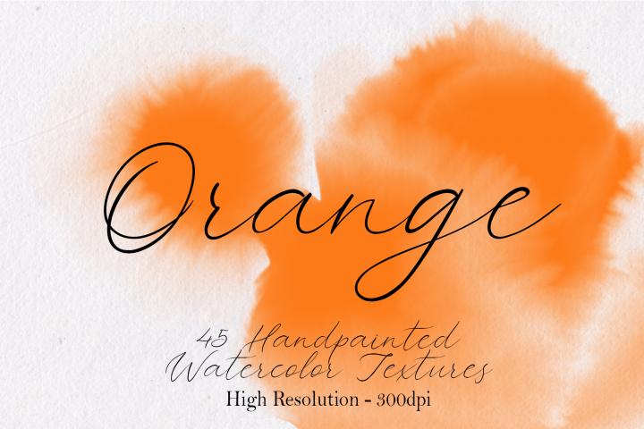 Orange - 45 Watercolor Textures