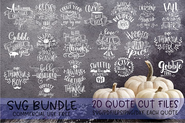 Thanksgiving bundle Gobble Pumpkins Turkey Fall