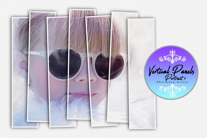 Vertical Panels Portrait Photoshop Action