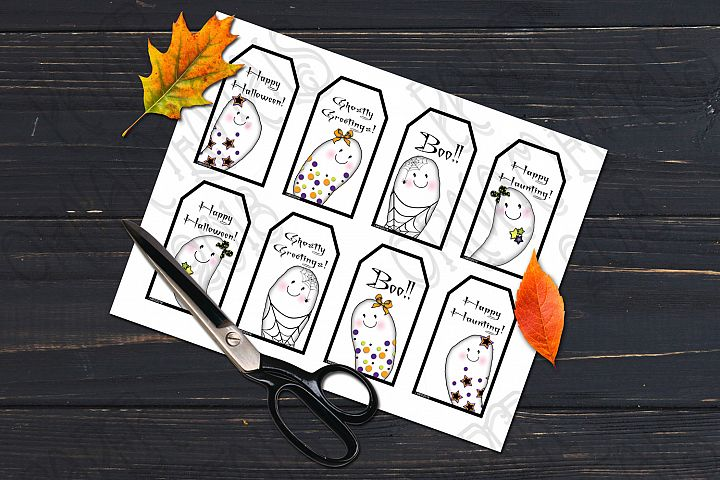Printable Halloween Gift Tags, Ghost Gift Tags