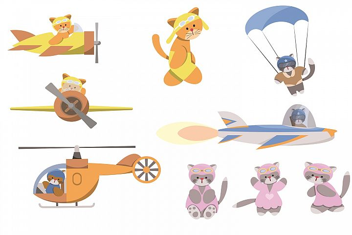 Animal pilots illustration pack