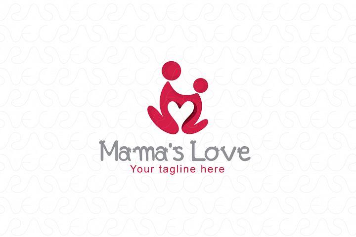 Mama's Care - Human Icon Logo Template